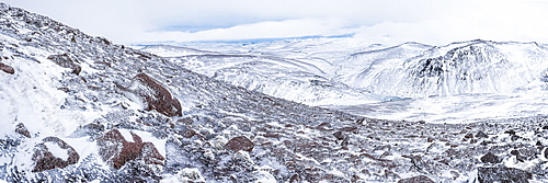 CairnGorm Mountain covered in snow in winter, Cairngorms National Park, Scotland, United Kingdom, Europe