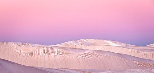Sand dunes at dusk, Lancelin, Western Australia, Australia, Pacific