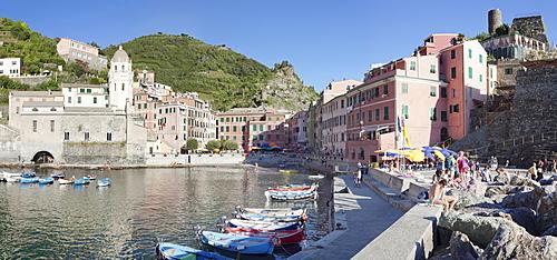 Vernazza, Cinque Terre, UNESCO World Heritage Site, Rivera di Levante, Provinz La Spazia, Liguria, Italy, Europe