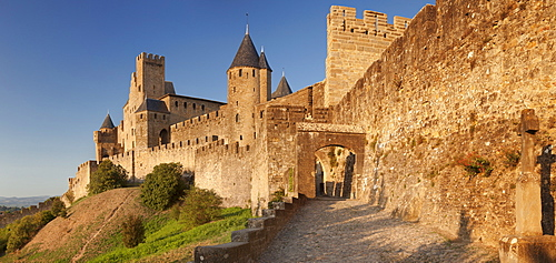 La Cite, medieval fortress city, Carcassonne, UNESCO World Heritage Site, Languedoc-Roussillon, France, Europe