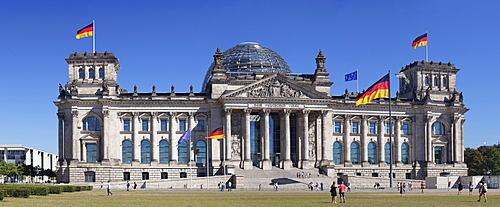 Reichstag Parliament Building, The Dome by Norman Foster architect, Mitte, Berlin, Germany, Europe