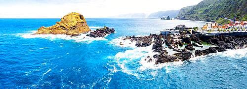 Natural salt water swimming pools made of volcanic rock, Porto Moniz, Madeira island, Portugal, Atlantic, Europe