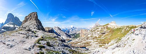 Oberbachernjoch/Passo Fiscalino, Croda Dei Toni, Cadini di Misurina and Tre Cime di Lavaredo, Dolomites, South Tyrol, Italy