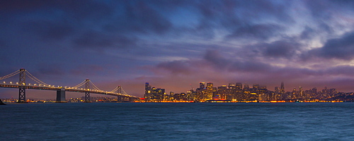 City skyline from Treasure Island, San Francisco, California, United States of America, North America