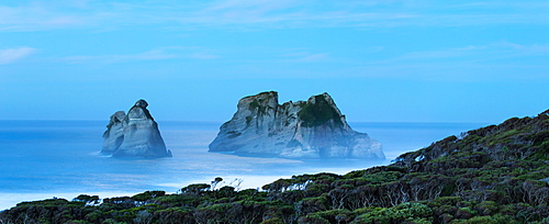 Night at Wharariki Beach on west coast of South Island, Nelson, South Island, New Zealand, Pacific
