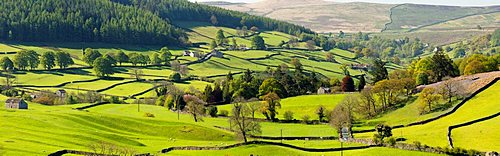The hamlet of Howgill below Simons Seat in lower Wharfedale, North Yorkshire, UK.