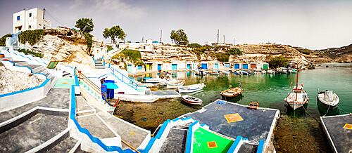 Mandrakia traditional fishing village, Milos, Cyclades, Aegean Sea, Greek Islands, Greece, Europe