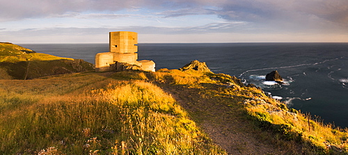 German Observation Tower from World War Two, Guernsey, Channel Islands, United Kingdom, Europe