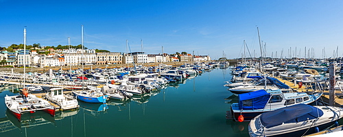 Boats in St. Peter Port Harbour, Guernsey, Channel Islands, United Kingdom, Europe