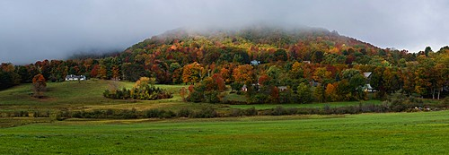fall panoramic view of Vermont country