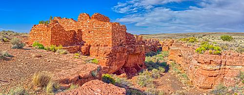 Panorama of the Lomaki Pueblo at the Wupatki National Monument, Arizona, United States of America, North America