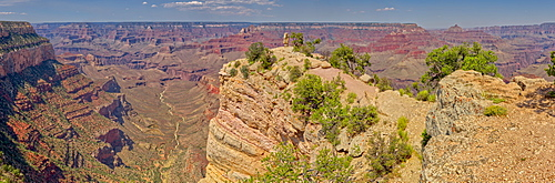Panorama view of Shoshone Point on the south rim of the Grand Canyon, Grand Canyon National Park, UNESCO World Heritage Site, Arizona, United States of America, North America