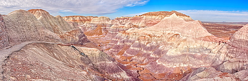 View from the Blue Mesa Trail in Petrified Forest National Park, Arizona, United States of America, North America