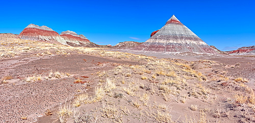 Formation in the Petrified Forest National Park called a Teepee, Arizona, United States of America, North America