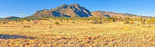Panorama view of Granite Mountain on the north side of Prescott Arizona.