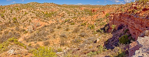 A canyon in Dead Horse Ranch State Park along the historic Lime Kiln Trail, Cottonwood, Arizona, United States of America, North America