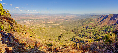 Afternoon view from the Spectator Area on Mingus Mountain near Jerome Arizona.