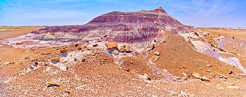 The northwest slope of the Purple Peninsula in Petrified Forest National Park Arizona.