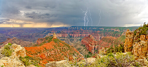 Storm rolling into Point Imperial at Grand Canyon North Rim, Grand Canyon National Park, UNESCO World Heritage Site, Arizona, United States of America, North America