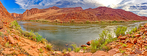 Panorama of the Colorado River just north of Lee's Ferry in the Glen Canyon Recreation Area Arizona.