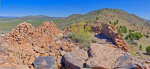 Ancient Ruins on Sullivan Butte in Chino Valley, Arizona, United States of America, North America