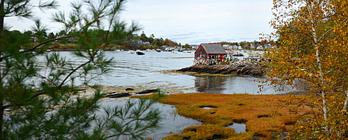 Boat house, Maine, New England, United States of America, North America