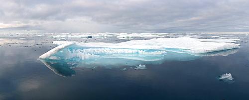 Melting sea ice, Nunavut and Northwest Territories, Canada, North America