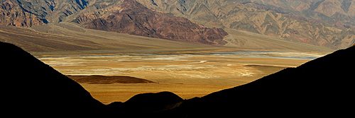 Death Valley at sunrise, California, United States of America, North America