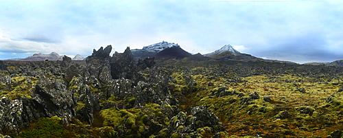 Ancient lava flows, Iceland, Polar Regions