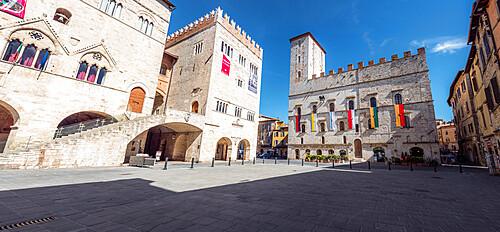 Piazza del Popolo in Todi, the city's main square