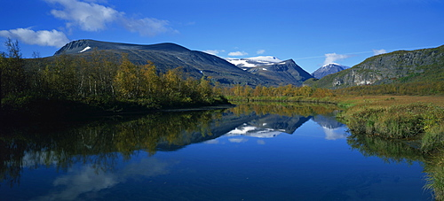 Typical scenery in Laponia, Lappland, Sweden, Scandinavia, Europe