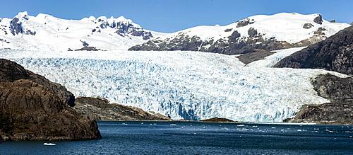 Asia Fjord and Brujo Glacier, Chilean Fjords, Chile, South America - 29-5596