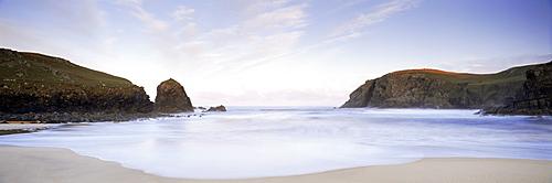 Dawn, Dail Beag, near Carloway, Isle of Lewis, Outer Hebrides, Scotland, United Kingdom, Europe