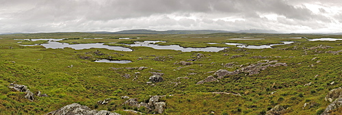 Bog land, off the Bog Road between Clifden and Roundstone, Connemara, County Galway, Connacht, Republic of Ireland, Europe