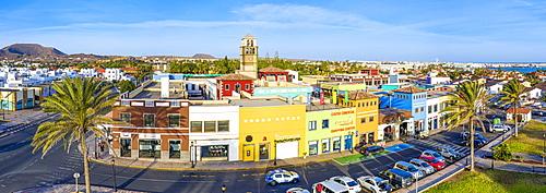 Colourful buildings in Corralejo, Fuerteventura, Canary Islands, Spain, Atlantic, Europe - 794-4817