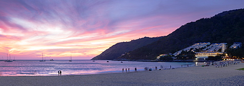 Hai Nan Beach at sunset, Phuket, Thailand, Southeast Asia, Asia