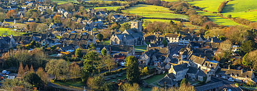 Corfe Castle village, Dorset, England, United Kingdom, Europe