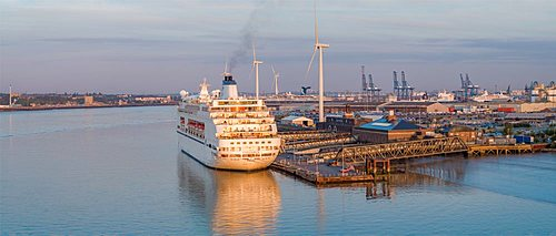 UK, England, Essex, Tilbury, London Cruise Terminal, MV Columbus cruiseship