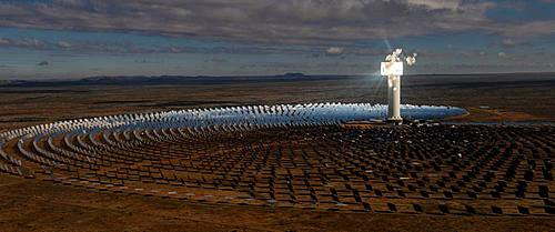 Panorama, Solar thermal power plant Khi Solar One, Keimoes, North Cape, South Africa, Africa