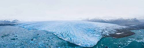 The Vatnajoekull glacier from the air, Iceland, Europe