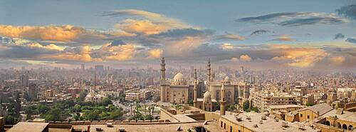 Cairo with Al-Azhar mosque, Cairo, Egypt, Africa