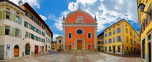 Piazza San Marco with San Marco Church, Rovereto, Trentino-Alto Adige, Italy, Europe
