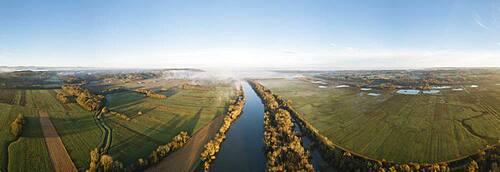 Sunrise over Adour River, Les Landes, Nouvelle-Aquitaine, France, Europe