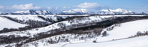 Mountain Panoramic, Hokkaido, Japan, Asia