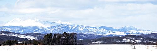 Huge mountain view, Hokkaido, Japan, Asia