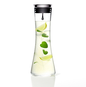 Fresh lemonade with a slice of lemon and mint, Drink