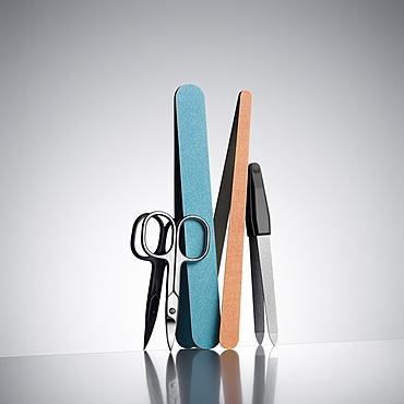 nail scissors, nail file