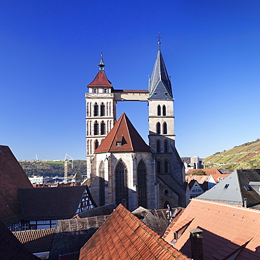 St. Dionys church, Esslingen, Baden Wurttemberg, Germany, Europe