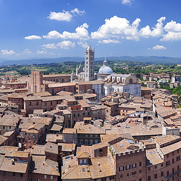 Old town with Santa Maria Assunta Cathedral, Siena, UNESCO World Heritage Site, Siena Province, Tuscany, Italy, Europe