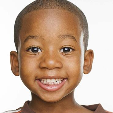 Close up of African boy smiling